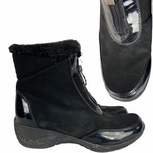 KHOMBU Black Winter Boots | 8.5